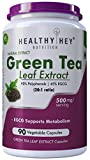 HealthyHey Nutrition Green Tea Extract - 90% Polyphenols & 45% EGCG - 20:1 ratio - 500mg - 90 Veg. Capsules