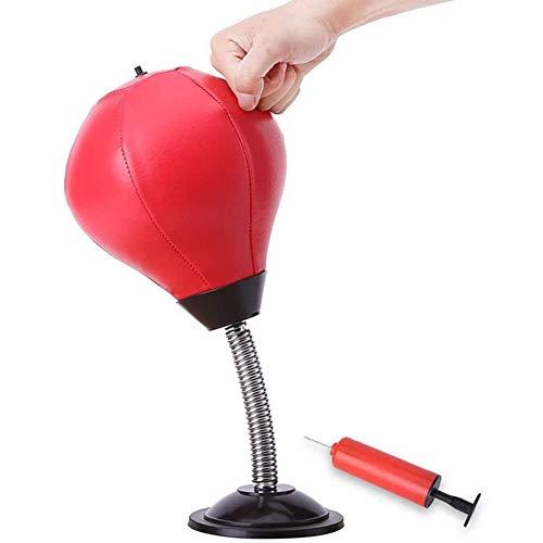 GYPPG Desktop Punching Ball Kreativer Desktop Speed Boxsack Stress Reliever Freistehendes Kit mit Inflator für Stressabbau Trainingspraxis für Erwachsene und Kinder