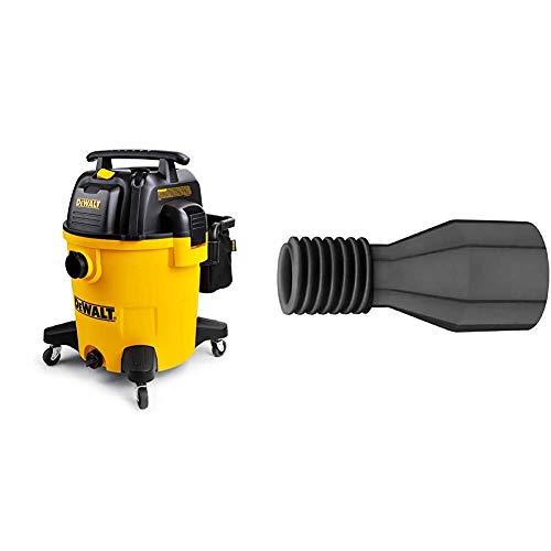 DeWALT 12 Gallon Poly Wet/Dry Vac & DWV9190 Large Hose Adapter,Black