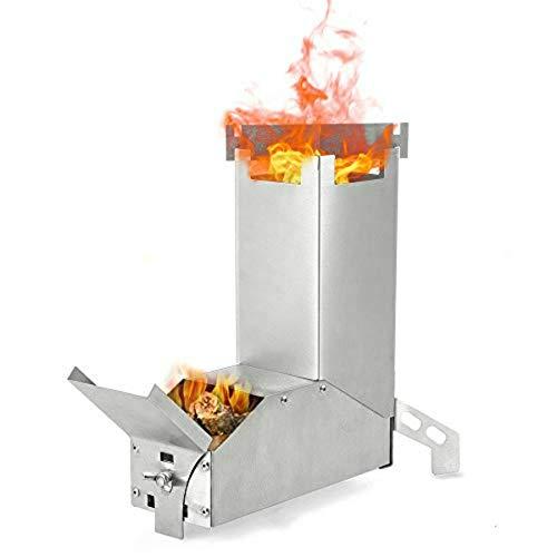 屋外ストーブウッドストーブ軽量折りたたみ薪ストーブ折りたたみ木材燃焼ステンレス鋼ロケットストーブピクニック調理炉
