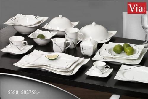Via by R&B Geschirr-Serie Dacapo Material 3er Set Servierplatten Dacapo