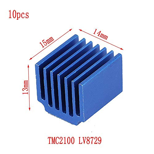 Durable LV8729 aluminium legering DRV8825 radiator 3D-printer onderdelen warmte wastafel koelblok, 10pcs TMC2100 LV8729 15x13x14mm, 123