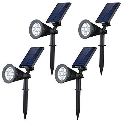 VicTsing - Lámpara Solar de Exterior (3LED, con Sensor de Movimiento)