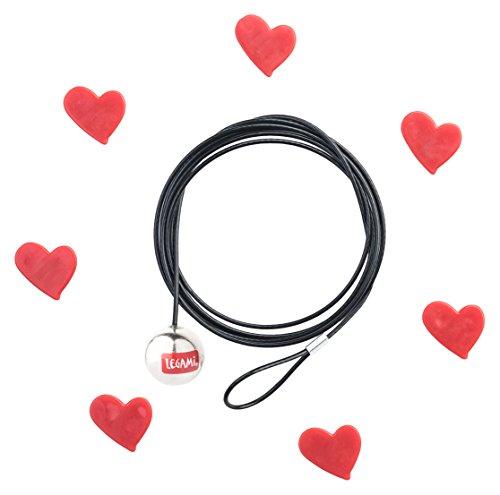 Legami Click Portafoto Hearts, Rosso/Nero, 120x0.1x0.1 cm