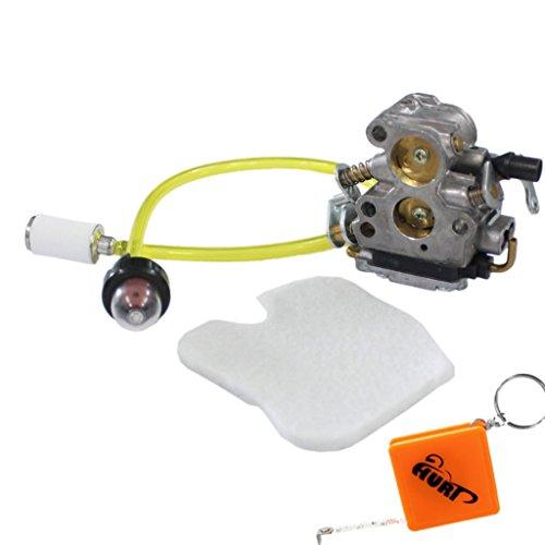 HURI Carburateur Filtre à air avec Filtre d'essence Pompe à essence pour Husqvarna 235 236 240