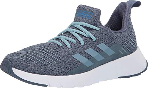 adidas Women's ASWEEGO, ash Grey/raw Grey/True Blue, 10 M US