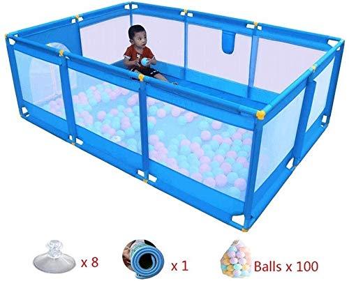 Parc à bébé, Bébés Fence Mesh portable Groupe indépendant 10 Terrain de jeu avec Pad and Ball