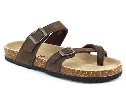 OUTWOODS Women's Bork 30 Brown Nubuck Syntheticsandals 9 B(M) US