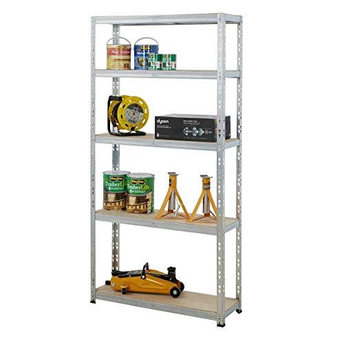 BiGDUG Boltless Garage Shelving 5 Tier Unit   Shed Warehouse Racking Storage