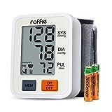 Tensiómetro de Muñeca, Roffie Monitor de presión sanguínea arterial Alta precisión y fiabilidad Gran, Detección de Pulso Irregular y De Movimiento (blanco)