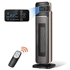 Powerful Heat Output 👉 24.4-inch ceramic heater provides 1500 watts of comforting warmth with elongated PTC heating element.Widespread oscillation evenly distributes warm air throughout the whole room. Energy Efficient Temperature Control 👉 Digital c...