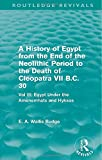 A History of Egypt from the End of the Neolithic Period to the Death of Cleopatra VII B.C. 30 (Routledge Revivals): Vol. III: Egypt Under the Amenemhāts and Hyksos