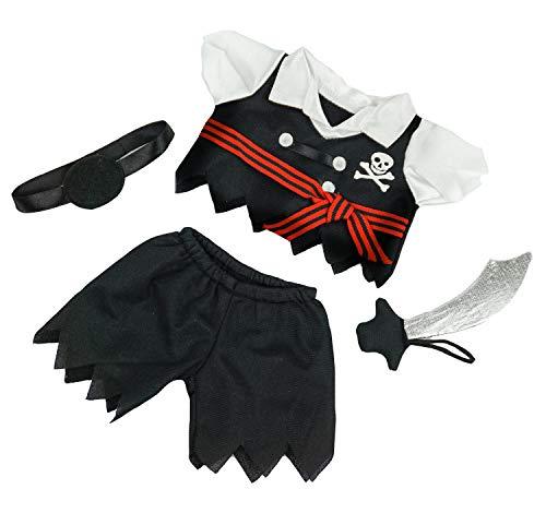Piraten-Outfit mit Schwert für 20 cm Plüsch - Kleidung für Teddybär Stofftier Plüschtier