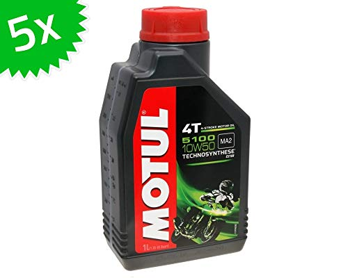 5X 1 Liter Motoröl MOTUL 4T 10W50 5100 5 Liter 4 Takt ÖL Oil OEL Roller Motorrad