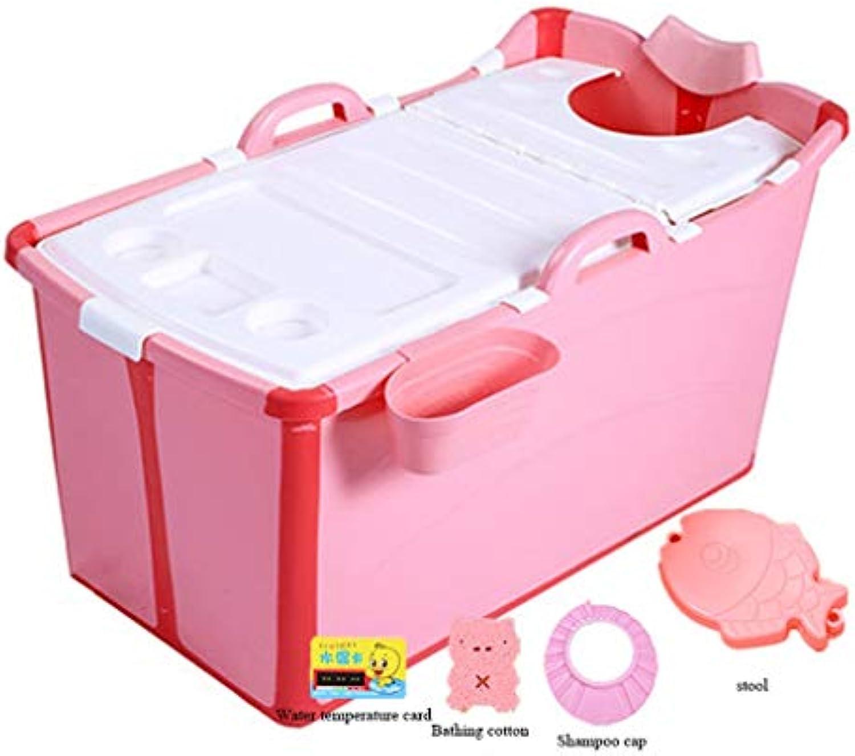 JP bathtub Faltbare Badewanne Kinder aus Kunststoff groe Babyschwimmen tragbare Nicht aufblasbare Badewanne Wschewanne (Farbe   C)