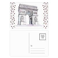 アークデtriomphパリフランス クリスマスの花葉書を20枚祝福する