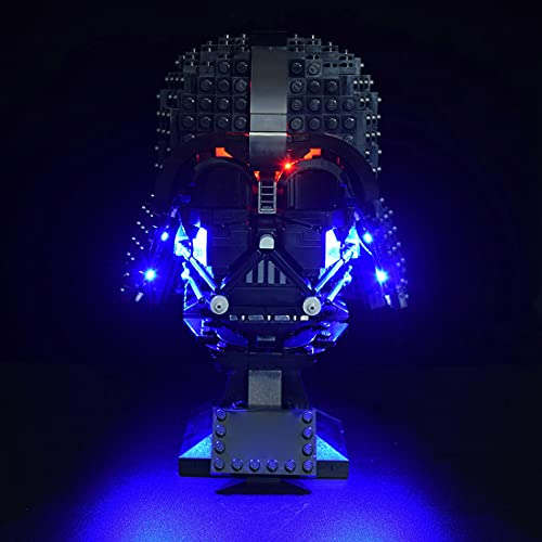 SEREIN Set di luci a LED per LEGO 75304 Star Wars Darth Vader Helm, kit luce LED compatibile con LEGO 75304 modello di mattone (senza set)
