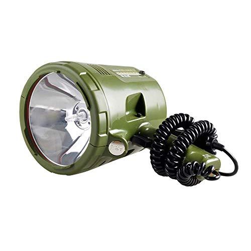yunyu Torcia a LED Super Luminosa, Lampada allo Xeno Resistente da 220 W Lampada da Esterno per Auto da 100 W IPX3 Impermeabile 3000M Range Marine Night Fishing Searchlight
