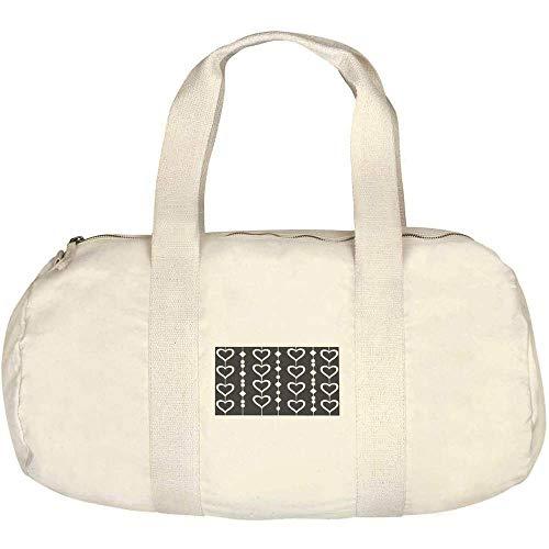 Azeeda 'Heart Pattern' Canvas Duffle / Gym Bag (DF00014921)