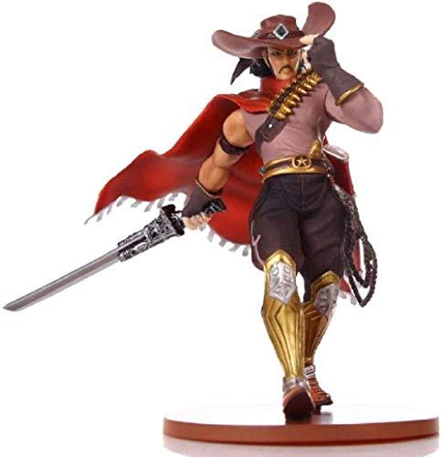 XXSDDM-WJ Geschenk Anime Statue Modell Cowboy Yasuo das unverzeihliche PVC Actionfigurenset Anime Figur Garage Kit Kinderspielzeug 18Cm QIEY28