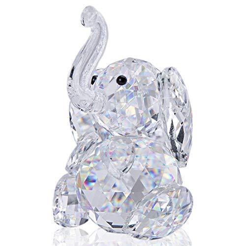 H&D Kristall Elefant Figuren Collectibles Glas Tierfigur für Tischdekoration