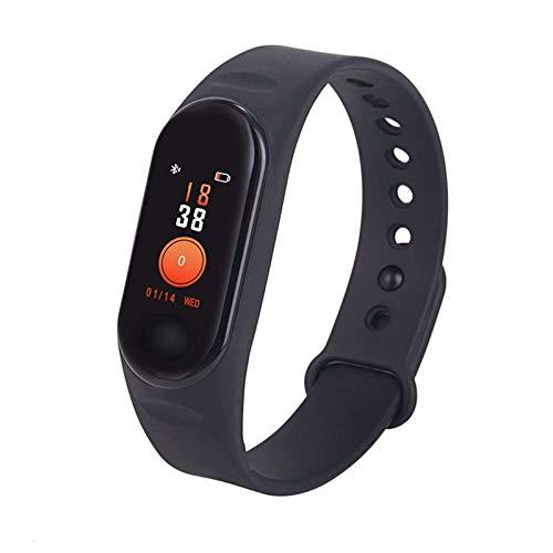 Monitor de actividad física Bluetooth, salud y fitness, IP65, impermeable, presión arterial, frecuencia cardíaca, monitoreo del sueño, para hombre y mujer, color negro