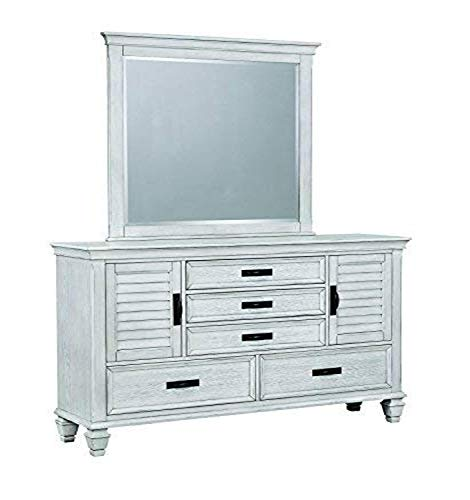 Coaster Home Furnishings Dresser Mirror, Antique White