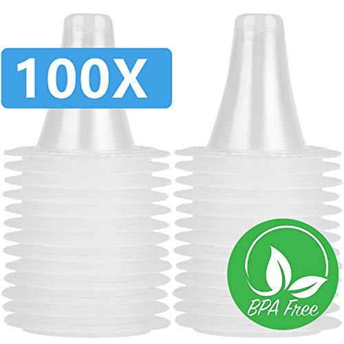 100 Ersatzschutzkappen für alle Braun ThermoScan-Modelle Ohrthermometer/Ohr Fieberthermometer und andere Arten von Einwegabdeckungen für digitale Thermometer