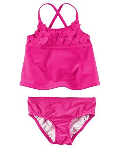 Carter's Baby Girls Tankini Swimsuit Set (Hearts) (24 Months)