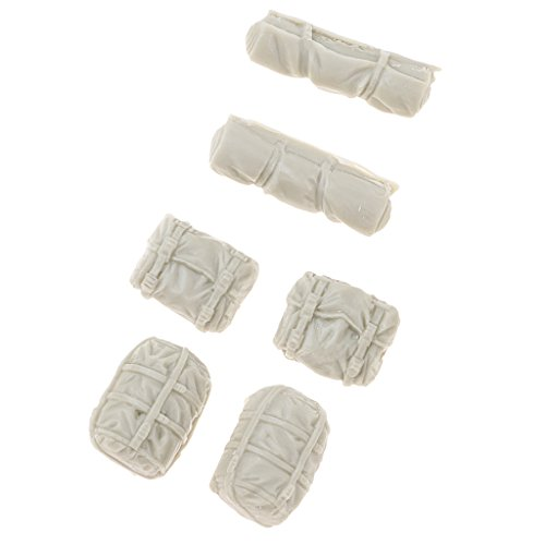 lahomia Model Accessories, 1:35 Resin Soldier 6 Backpack Bag War Game Layout