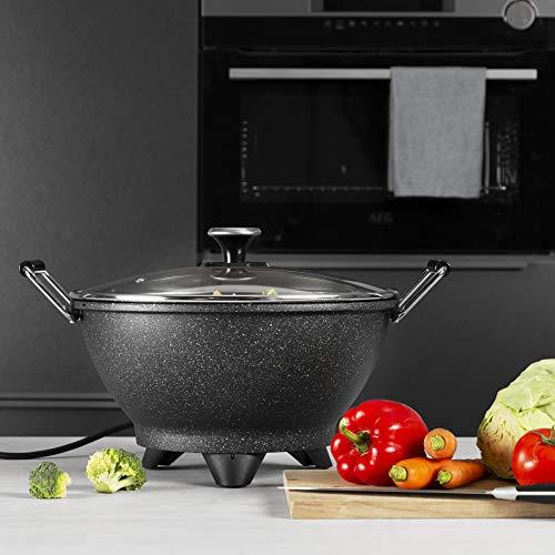 Princess Stir-Fry 162389 Wok eléctrico, 1400 W, 7 litros, Negro