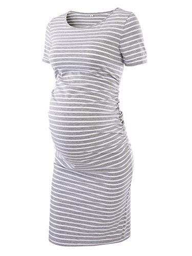 Women's Ruched Maternity Bodycon...