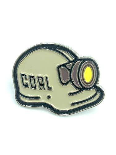 Patch Nation Bergmann Schutzhelm Kappe Lampe Tribut an den Bergbau Coal Kohle Metall Button Badge Pin Brosche Anstecker