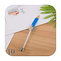 1ピースかわいい羽ボールペンゴールドパウダーボールペン0.5ミリメートルクリエイティブペンライティングスクール事務用品ノベルティ文房具-10-Blue