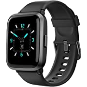 Smart Watch, AIKELA Fitness Trackers with Blood Oxygen & Blood Pressure Monitoring/Heart Rate Monitor/Sleep Monitor/5ATM Waterproof/Multiple Sport Modes, for Women Men Android iOS (Black)