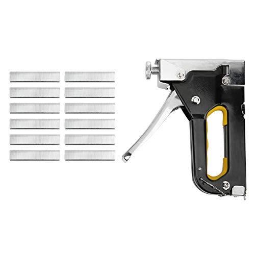 Heftpistole Hochleistungs-Hochleistungspistole mit 600 Nägeln Hochleistungs-Handhefter/Nagelpistole Nagelpistole zum Befestigen von Material, Dekoration, Zimmerei, Möbeln