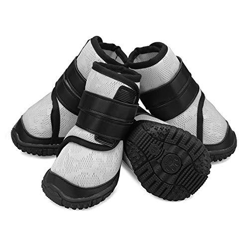 OMEM kleine en middelgrote grote hond ademende netto schoenen huisdier benodigdheden vier seizoenen sportschoenen wandelen hond schoenen, L, Kleur: wit