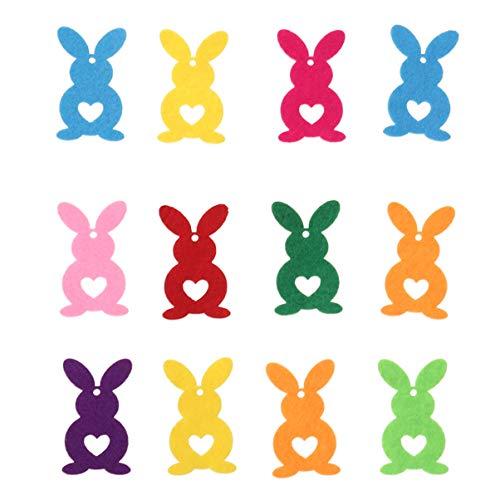 ABOOFAN 20 Piezas de Decoraciones de Conejo de Pascua Mesa de Conejo No Tejida Pegatinas de Animales de Conejo para Jardín de Infantes Bolsa de Regalo para Niños Manualidades Fiesta