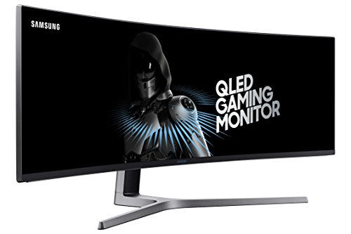 Samsung Monitor Gaming 49' Super UltraWide QLED, Resolución 3840 x 1080, 144 Hz (Modelo LC49HG90DMLXZX)