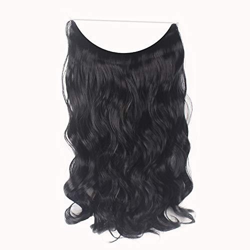 Clip épais de mode dans les extensions de cheveux Boucles droites Clip de postiche à tête complète Perruque Bouclee Long Perruque Ombre Blond Perruque Gothique Perruque Lisse Femme Naturelle