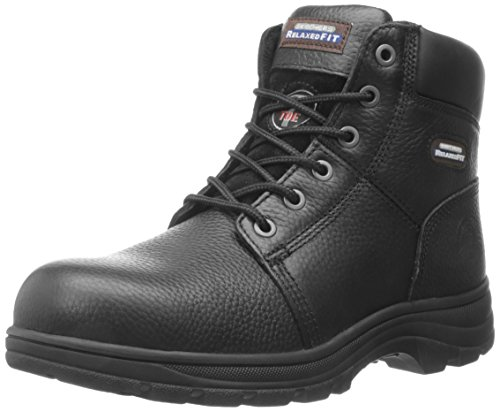Skechers for Work Men's Workshire Relaxed Fit Work Steel Toe Boot,Black,10 W US