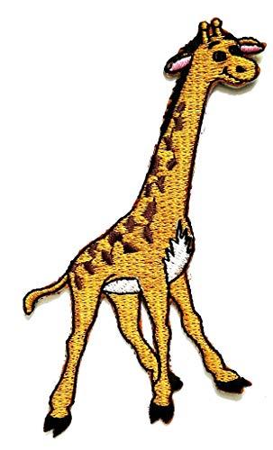 PP-Aufnäher, Giraffen-Motiv, afrikanischer Safari, Zoo-Aufkleber, Cartoon-Muster, Applikation oder Aufnähen für T-Shirts, Jeans