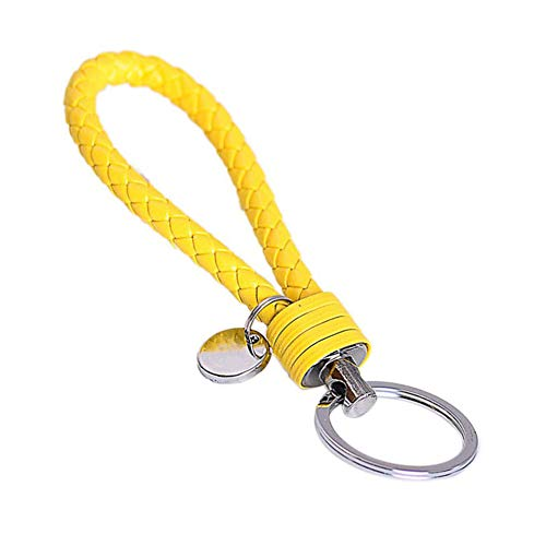 Beuya Keychains with Creative Details Pendant Woven Key Ring Lanyards - Key Chain for Women and Men (Yellow)