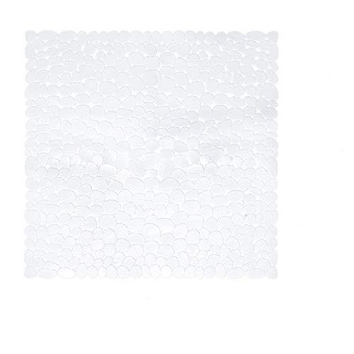 Baozun Badewannenmatte Duschmatte Badewanneneinlage Antirutschmatte Quadrat-55x55cm Rutschfest Maschinenwaschbar-Weiß