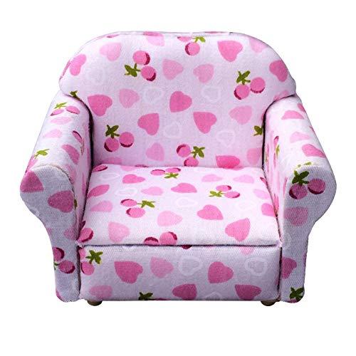 Binxory Mini Dollhouse Sofa Armchair Living Room Furniture Model Decor for 1: 12 Casas de Muñecas Jugar Juguete