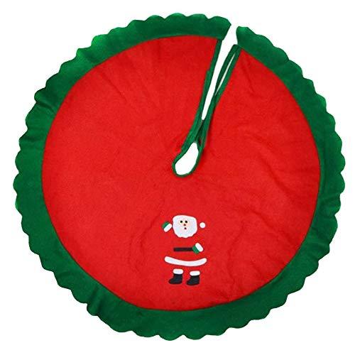 JPYH Copri Base per Albero di Natale,Base per Albero di Natale, Rotonda, Coperta per Albero di Natale, Protezione Decorativa Contro Gli Aghi – Rosso, Bianco