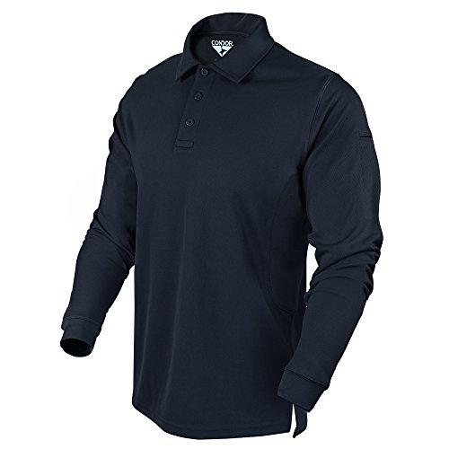 Condor Outdoor Performance Long Sleeve Tactical Polo Shirt (Small, Navy)