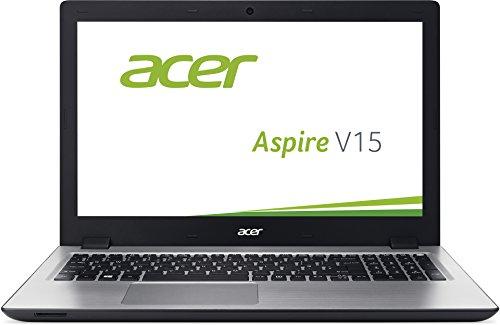Acer Aspire V 15 (V3-575G-75K5) 39,6 cm (15,6 Zoll Full HD) Laptop (Intel Core i7-6500U, 8GB RAM, 500GB SSHD, Nvidia GeForce 940M, DVD, Win 10 Home) schwarz / silber