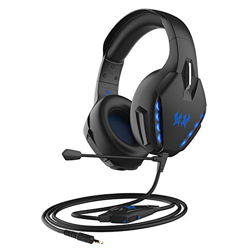 boxiangxu Auriculares de juego montados en la cabeza con cable a prueba de ruido para juegos
