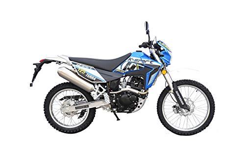 K-Sport Motorrad »Terra Enduro 125«, 125 ccm, 99 km/h, Euro 4, 125 ccm, 99 km/h, 11,42 PS (Blau)